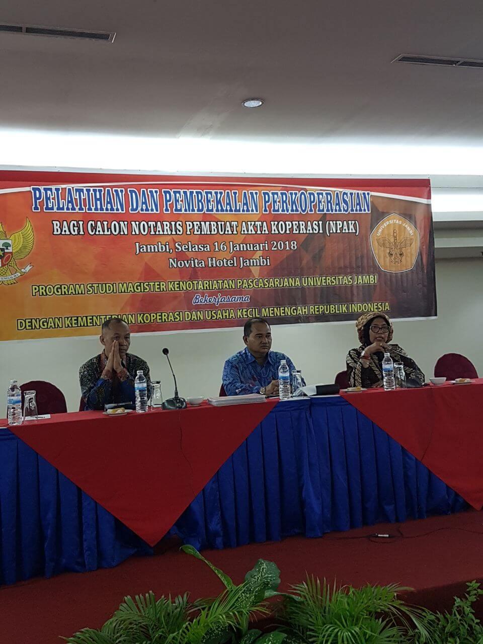 Mahasiswa serta Alumni Magister Universitas Jambi Dapat Pembekalan Perkoperasian