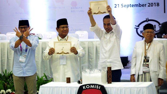 Pilpres 2019 Joko Widodo No1, Prabowo Subianto No 2