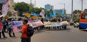 Massa GEMA HOAXS Dukung Polri Usut Penyebar Informasi IndonesiaLeaks