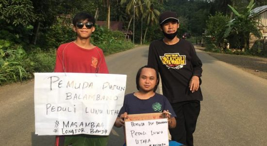 Bantu Korban Banjir Masamba, Pemuda Dusun Balambano Lakukan Penggalangan Dana