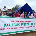 K-Link Kembali Turun Bantu Korban Banjir di Luwu Utara