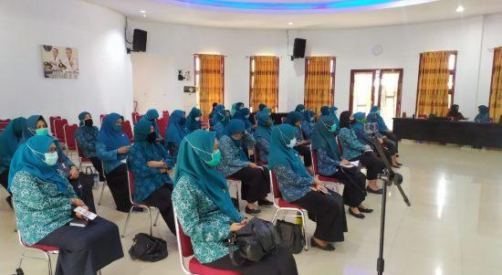 Menuju New Normal, PKK Luwu Timur Gelar Rapat Singkronisasi Program