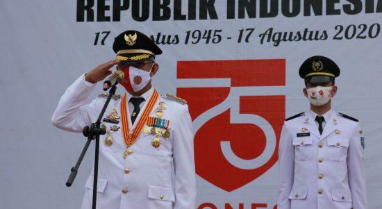 Pemda Lutim Peringati Hari Kemerdekaan RI ke-75 Secara Sederhana