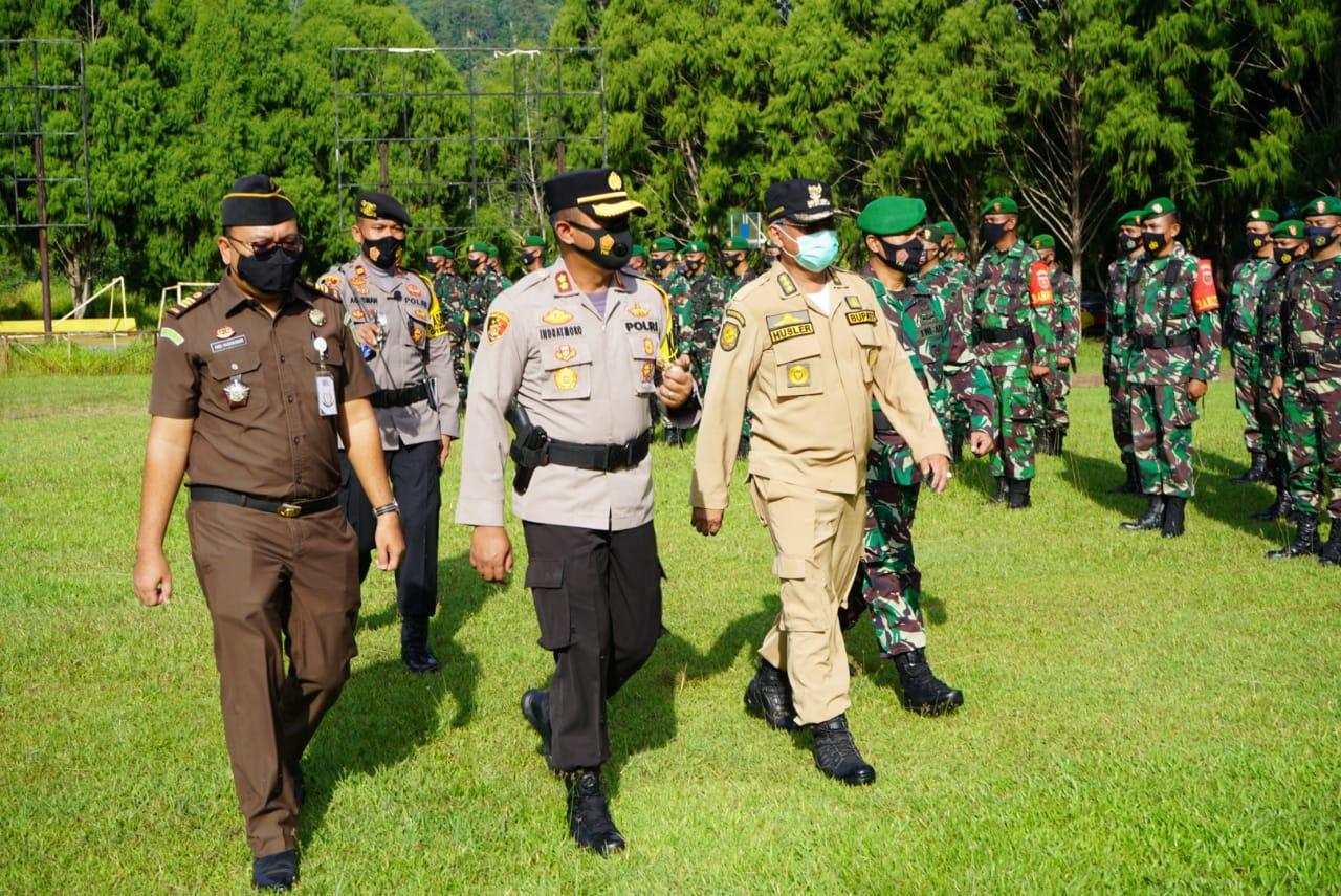 Aparat TNI dan Polri di Luwu Timur Gelar Apel Pengamanan Pilkada