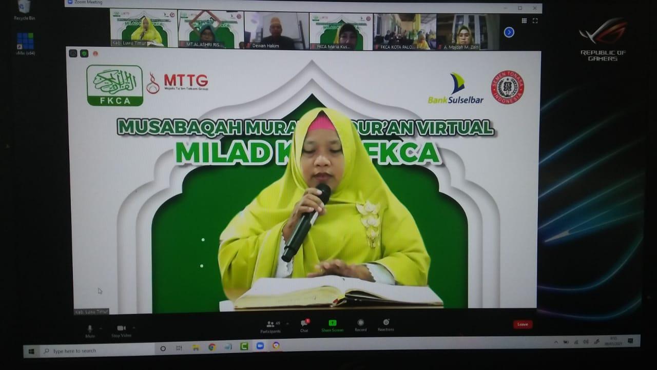 Wakili Lutim Lomba MMQ, Rahmi Mohon Doa Dan Dukungan Ta'