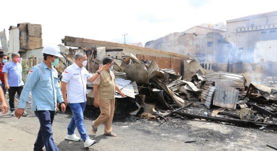 Tinjau Lokasi Kebakaran di Sorowako, Budiman Pemerintah Lutim Turut Prihatin