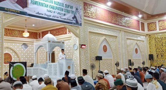 Pemkab Luwu Timur Gelar Peringati Malam Nuzulul Qur'an dengan Protokol Kesehatan