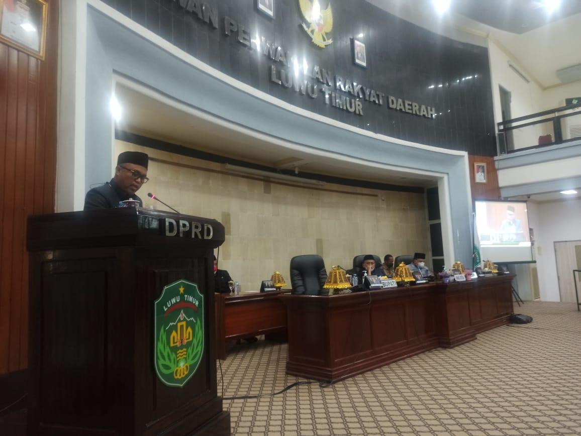 Paripurna DPRD, Bupati Lutim Jawab Pemandangan Umum Fraksi Atas Empat Ranperda